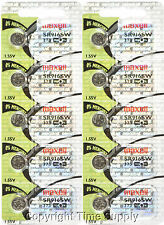 Maxell 373 SR916SW SR916 V373 617 916 Watch Battery 0% MERCURY ( 10 PC )