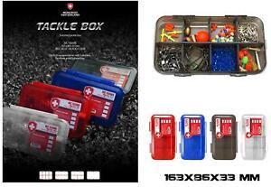D6000011 Tackle Box Switzerland porta accessori pesca Trasparente Mare Lago CASG