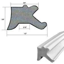 """Gray Shower Door Replacement Press-in Glazing Vinyl 3/8"""" x 1/2"""" - 18 ft Roll"""