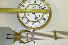 Vintage Weight Driven 8-day VIENNA CLOCK MOVEMENT & PENDULUM German Kieninger