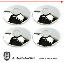 New VW logo Chrome Hub Cap Late Beetle Bus Ghia Type-3 Vanagon 4-set 251601151A