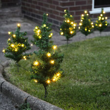 SET OF 6 OUTDOOR GARDEN CHRISTMAS TREE DECORATION PATH LAWN DRIVEWAY LED LIGHTS
