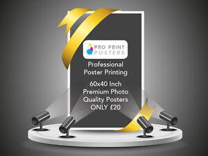 Gloss or Satin 200gsm Colour Poster Printing - 60x40 (4 Sheet)