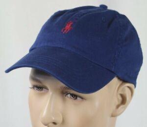 Polo Ralph Lauren Blue Red Pony Baseball Ball Cap Hat NWT