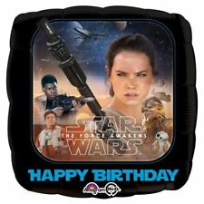 """Star Wars The Force Awakens Character Happy Birthday Party 18"""" Foil Balloon"""
