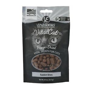 Vital Essentials FREEZE DRIED RABBIT BITES Cat Treats .9 oz MADE IN USA