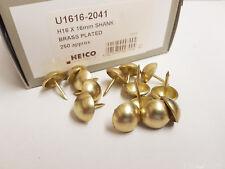 250 Plaque Laiton 16mm Clous de Sellerie Grand Punaises Heico H16 Meuble Clous