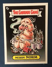 Nerdy Norm 24b Garbage Pail Kids~ New Zealand The Garbage Gang~Mint~Pack fresh!
