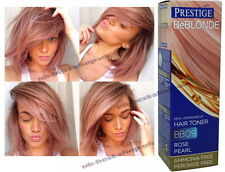 NEW Dye Color ROSE PEARL PINK HAIR TONER # 9 Blonde Bleached NO AMMONIA PEROXIDE