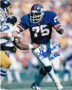 GEORGE MARTIN  NEW YORK GIANTS  1986 SB CHAMPS   ACTION SIGNED 8x10