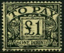 GREAT BRITAIN - 1963 £1 'BLACK (YELLOW)'  FU SGD68 Cv £9 [B4550]
