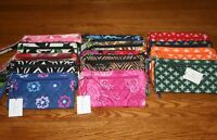 Vera Bradley FRONT ZIP WRISTLET wallet card holder iPhone 8 plus iPhone X NEW