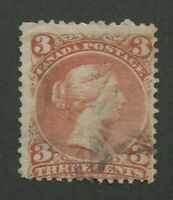 CANADA #25 USED LARGE QUEEN FANCY CANCEL