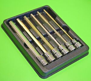 Snap On Tools Extra Long Hex Allen Key Socket Driver Set (333) rrp £175 206EFAML