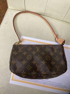 Authentic Louis Vuitton Monogram Pochette Accessories NM Bag