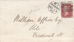 1879 QV EDINBURGH COVER WITH A FINE 1d PENNY RED STAMP PLATE 200 ~ 99p START!