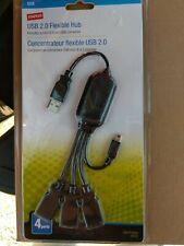 Staples Brand USB 2.0 Flexible Hub With Mini B 5 Pin USB Connector, NEW SEALED