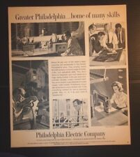 1963 Philadelphia Electric Company Advertisement Philadelphia, PA
