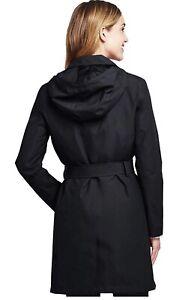 Land's End Women's Rain Hooded Waterproof Coat - L