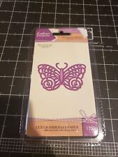 Crafters Companion Cut & emboss - Ornate Butterfly metal cutting die - new