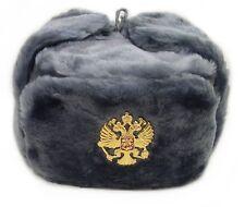 ouchanka russe chapeau hiver militaire style / IMPERIAL AIGLE Crête BADGE L gris