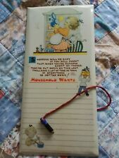 More details for vintage 50's mabel lucie attwell valette washable series wipeable shopping list