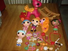 EUC LaLaloopsy Littles Lot Rocker N Stroller 5 Dolls Fairy Tulip Pod Bumps Maty