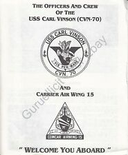 USS Carl Vinson (CVN 70) - US Navy Welcome Aboard Program - 1986