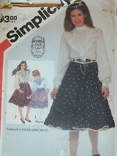 Amazing VTG 83 SIMPLICITY 6088 Girls GUNNE SAX Blouse & Skirt PATTERN 12/30B