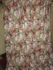 CROSCILL EVESHAM COTSWOLD CINNAMON FLORAL GREEN (PAIR) PANELS CURTAINS 40X82