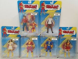 SHAZAM Lot of (6) Figures Mary Captain Mr. Mind DC Direct 2007 Series 1, all MOC
