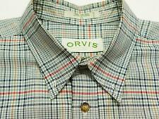 ORVIS Btn-Down Plaid Check Woven Long Sleeve Casual Shirt XL