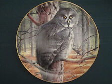 Great Grey Owl collector plate The Grey Ghost Trevor Boyer Owls D 00006000 anbury Mint