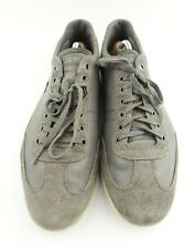 LACOSTE Men's Gray Leather Suede Lace Up Sneakers  Trim 12 US 46 EU