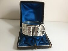 Antique Victorian Sterling Silver Buckle Bangle - Birmingham 1885