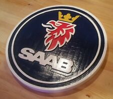 Saab 3D routed carved plaque bar custom wood sign Custom Carved