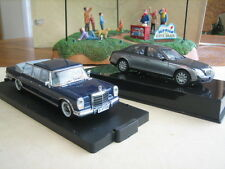 Mercedes-Benz Limos, set of 2, 1/43 scale model cars.