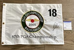 Phil Mickelson Signed 2005 PGA Championship Flag 2021 Masters PSA DNA Certified!