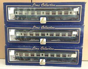 Three Boxed Lima Model Railways 00/H0Gauge BR Blue/Grey Intercity Mark 1 Coaches