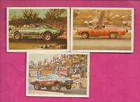 3 X RARE 1971 FLEER AMERICAN HOT ROD ASSOCIATION  CARD  (INV# J0531)