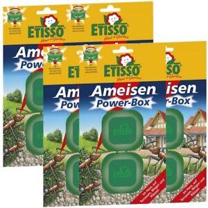 Sparset Etisso Ameisen Power-Box 5 x 2 Köderboxen Ameisenköder Falle