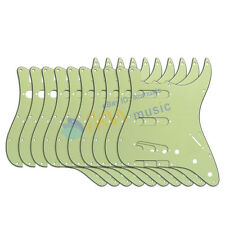 10 pièces 3ply vert menthe guitare SSS pickguard 11holes pour Fender Strat Style