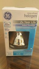 GE halogen 2 + year life 65 W incandescent replacement uses 45 W 640 Lumens