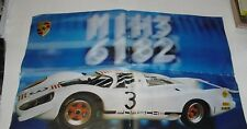 (a) DOMENICA DEL CORRIERE le automobili regine PORSCHE 917  poster 54 x 34