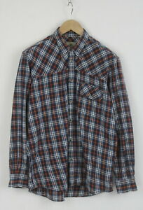 BERETTA Men's (UK) 42 or ~LARGE Button Down Checked Casual Shirt 25508_JS