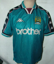 Rare Vintage 90s Manchester City Home Shirt 1997/ 98 Kappa Brother Small 42 Ches