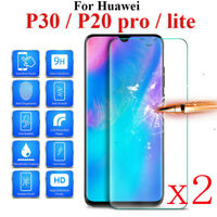 2X Tempered Glass Screen Protector For Huawei P10 P20 P30 Lite P Smart 2019 AULY
