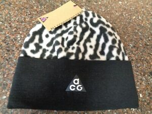 NIke All Condition Gear ACG Beanie Hat One Size Unisex Zebra Print Dri-fit NWT