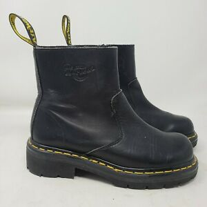 Dr Martens 9489 Chelsea Boot Womens 8 Black Leather Zip Up England Made