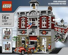NEW SEALED LEGO Fire Brigade Station 10197  Engine Modular House Truck Dog Men